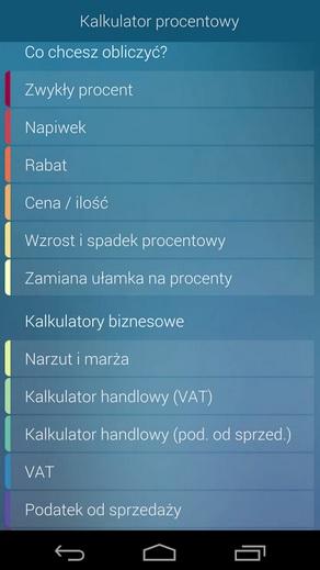 Kalkulator Procentowy, źródło: play.gooogle.com