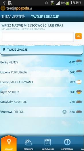 Twoja Pogoda, źródło: play.google.com