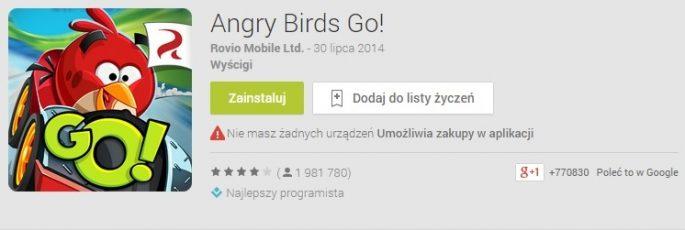 Angry Birds Go, źródło: play.google.com