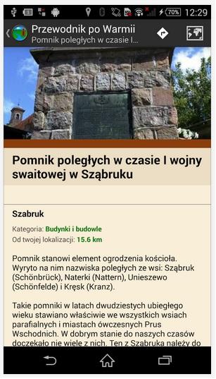 Przewodnik po Warmii, źródło: play.google.com