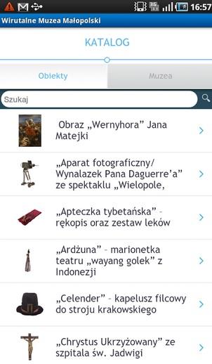 Wirtualne Muzea Małopolski, źródło: play.google.com