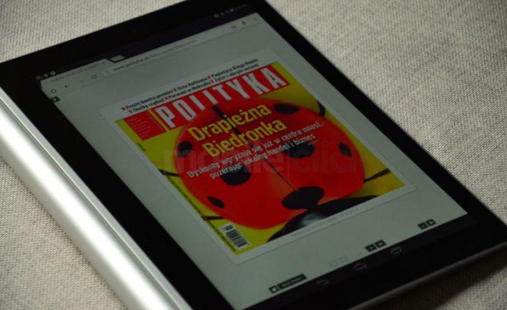 Lenovo Yoga Tablet 2 znakomicie sprawdza się jako urządzenie do czytania e-magazynów.