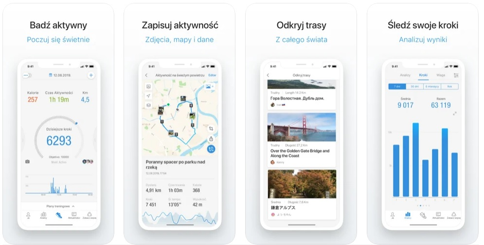 aplikacja do mierzenia kroków