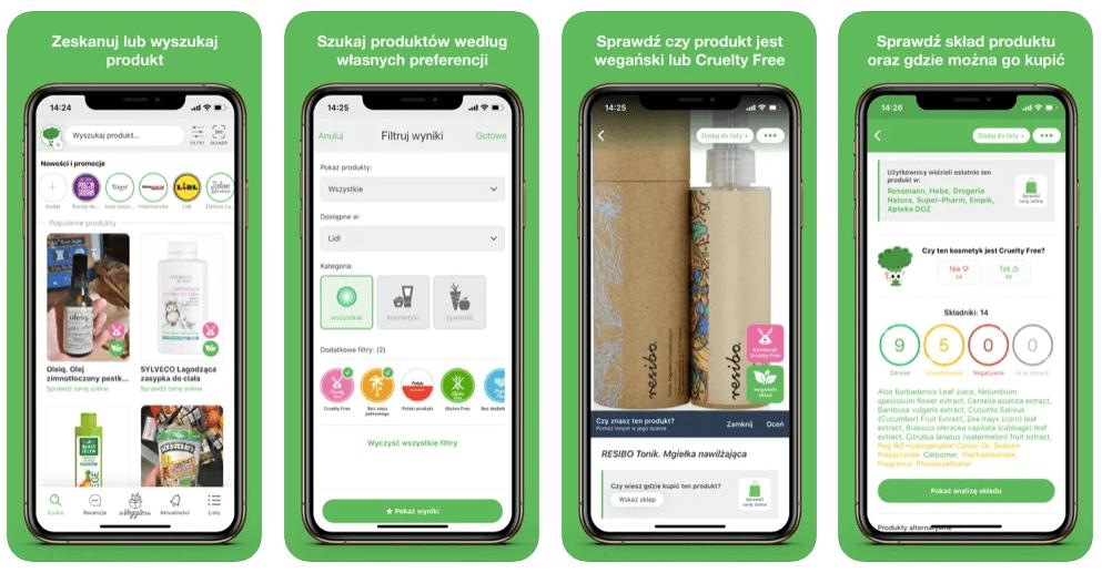 aplikacja Veggie wegańska baza produktów